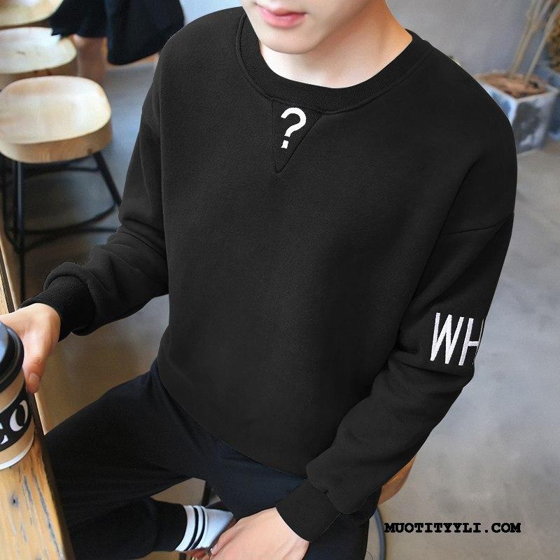 Miesten Huppari Halpa Kevät Uusi Pullover Löysät Trendi Musta