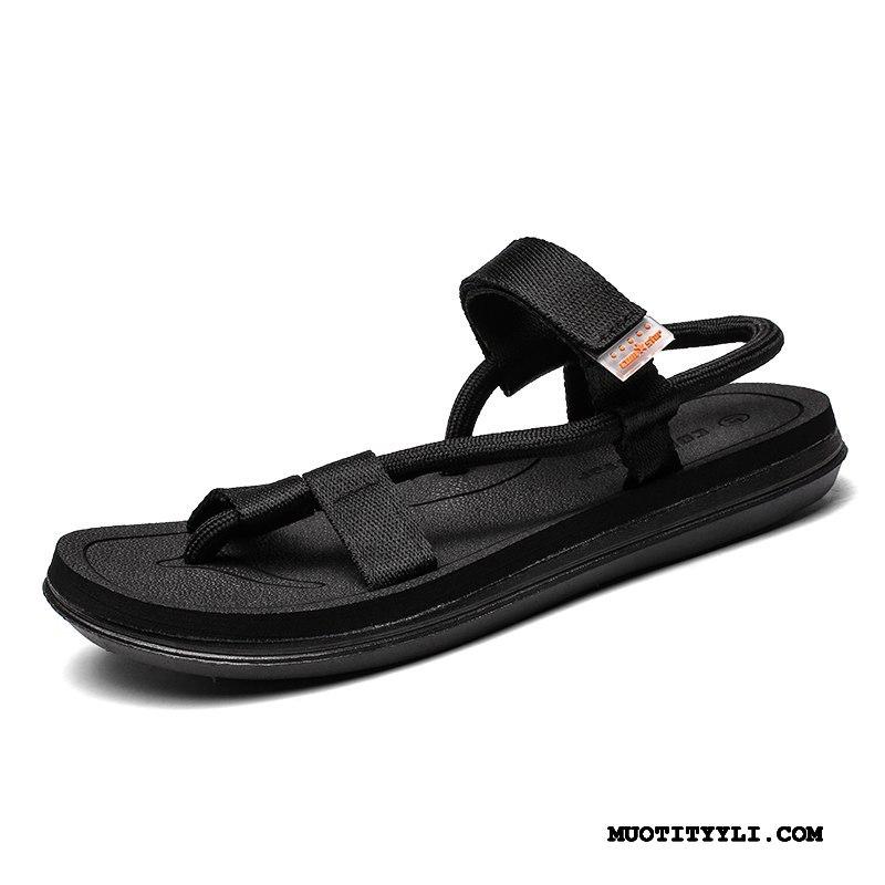 Miesten Sandaalit Halpa Päällysvaatteet Muoti Tossut Kengät Persoonallisuus Musta