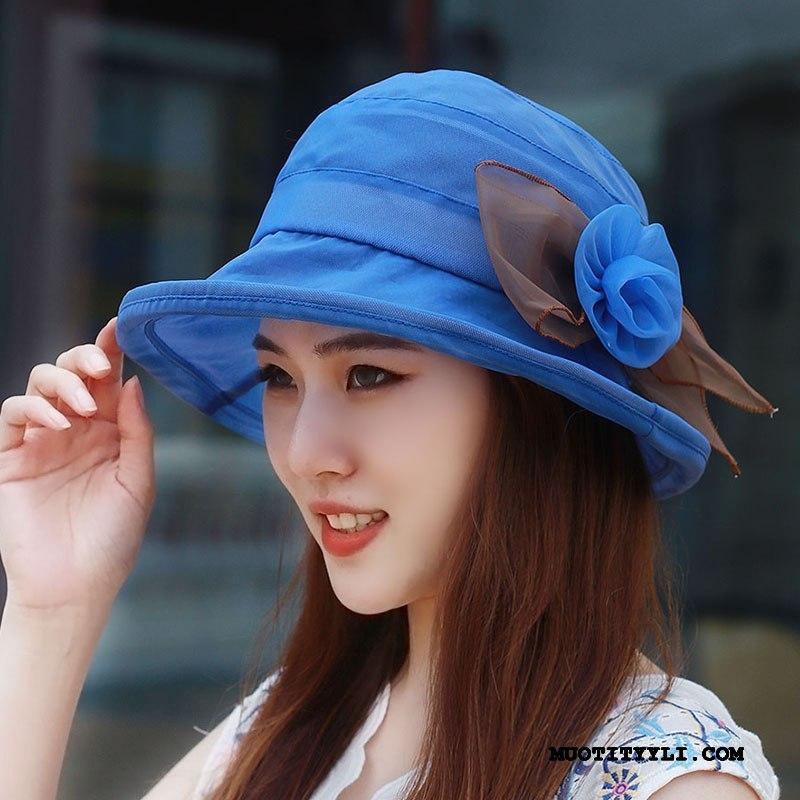 Naisten Hattu Halpa Kesä Valo Hengittävä Aurinkohattu Shade Sininen