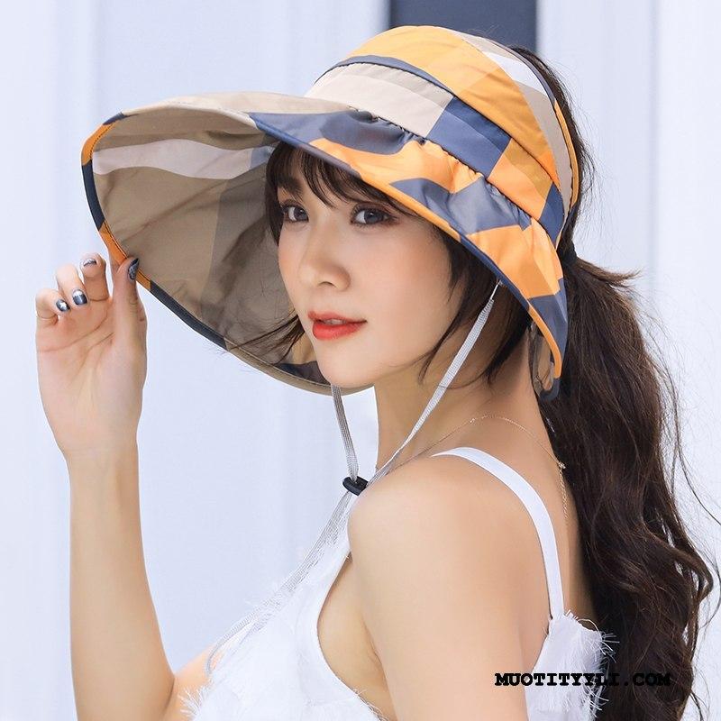 Naisten Hattu Myynti Kesä Matkustaminen Aurinkohattu Aurinkovoiteet Naisille Keltainen
