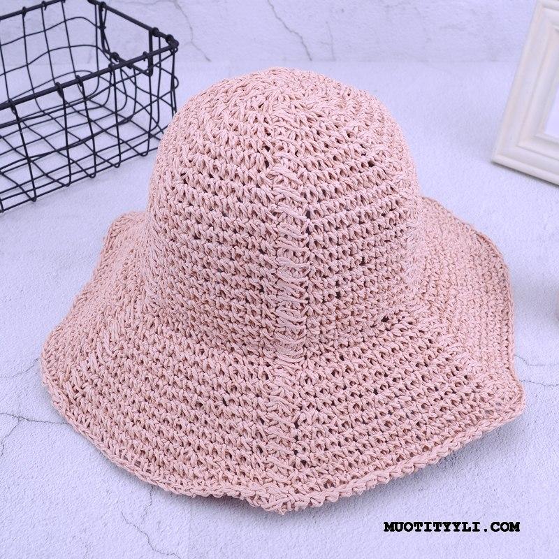 Naisten Hattu Osta Aurinkohattu Olkihattu Manuaalinen Matkustaminen Ranta Pinkki