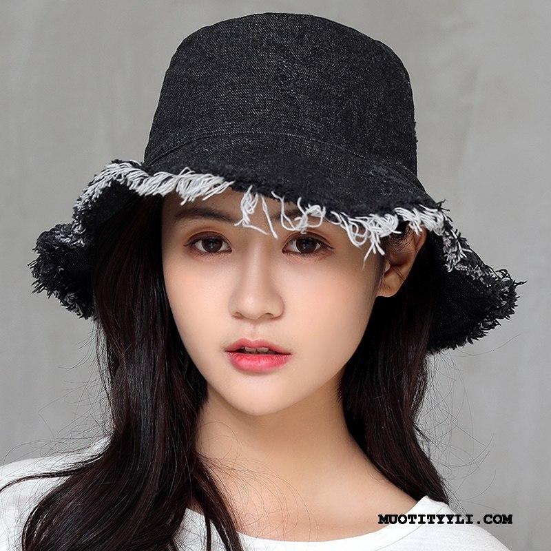 Naisten Hattu Osta Mutka Shade Kevät Aurinkohattu Denimissä Musta