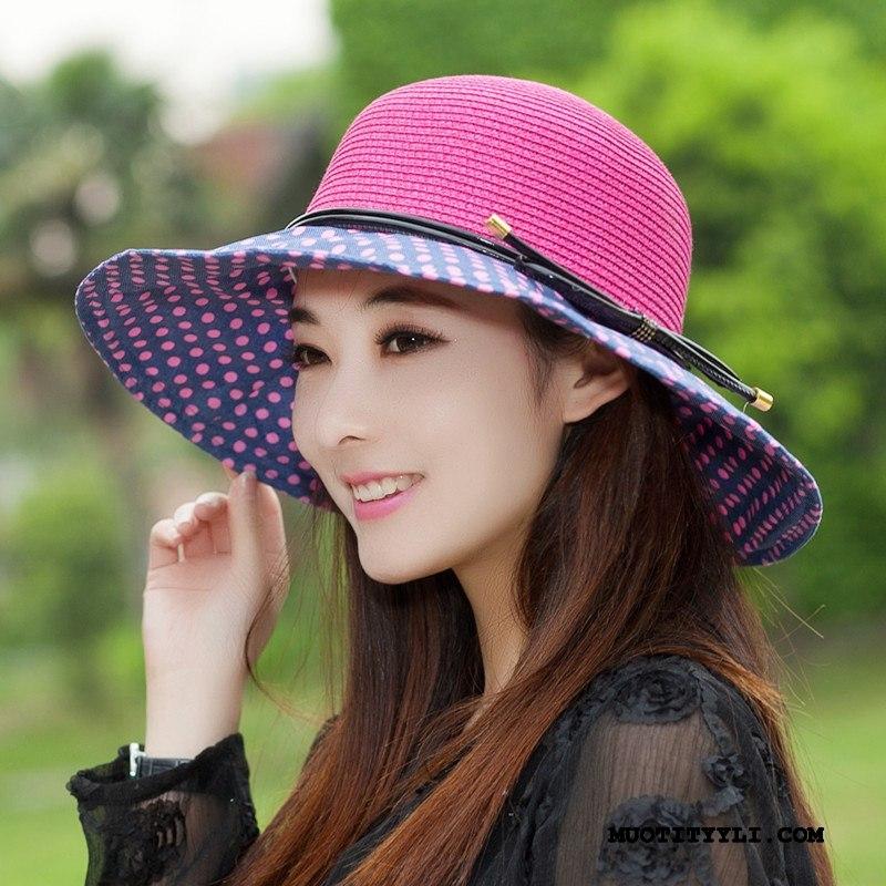 Naisten Hattu Osta Naisille Kesä Ulkoilu Aurinkovoiteet Shade Rose Punainen