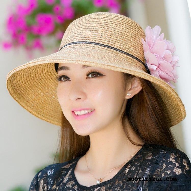 Naisten Hattu Osta Suuri Mutka Shade Matkustaminen Kesä Violetti Ruskea