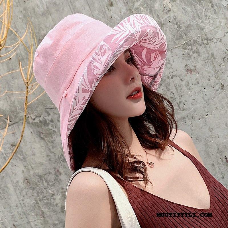Naisten Hattu Osta Verkko Uusi Kesä Suuri Aurinkovoiteet Pinkki Punainen