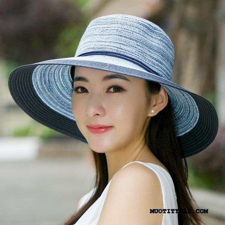Naisten Hattu Tarjous Kesä Ranta Perhonen Matkustaminen Olkihattu Sininen