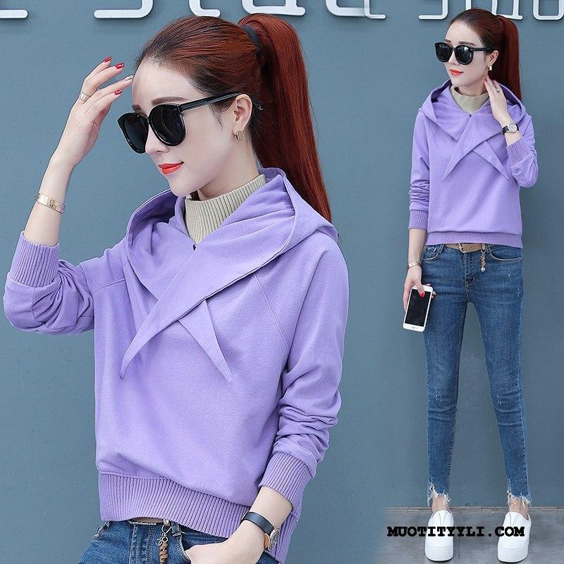 Naisten Huppari Osta Hupparit Casual Takki Super Trendi Violetti