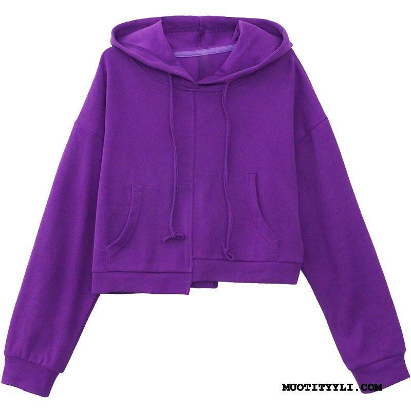Naisten Huppari Osta Ohut Naisille Takki Löysät Hupparit Violetti