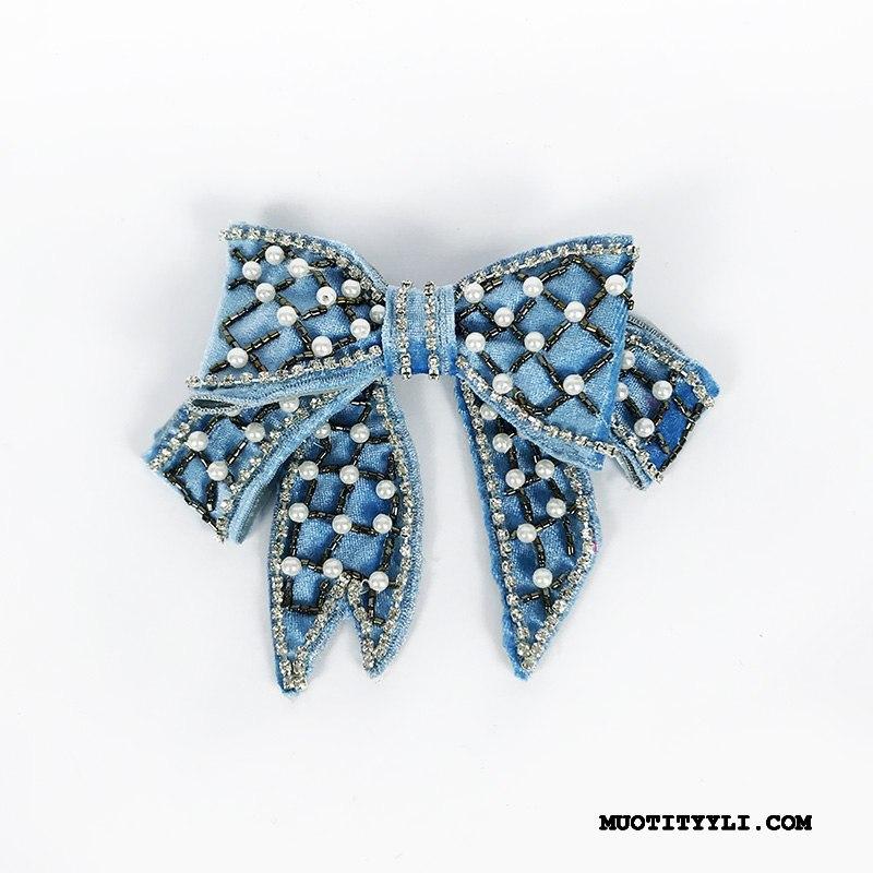 Naisten Rusetti Verkossa Helmi Pieni Rintaliivit Vintage Kukkakimppu Lisälaitteet Sininen