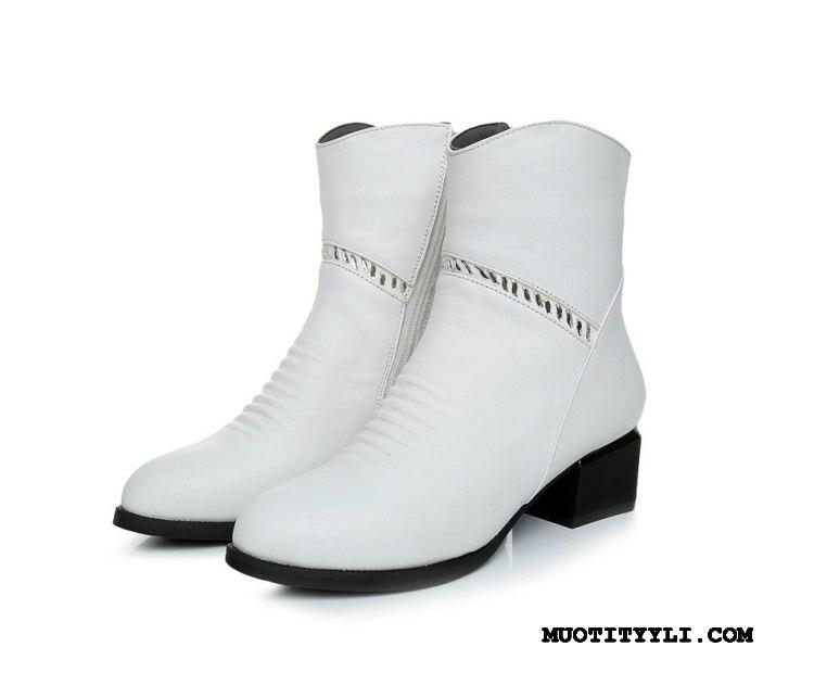 Naisten Saappaat Myynti Puuvillaa Kengät Syksy Naisille Lisää Samettia Valkoinen