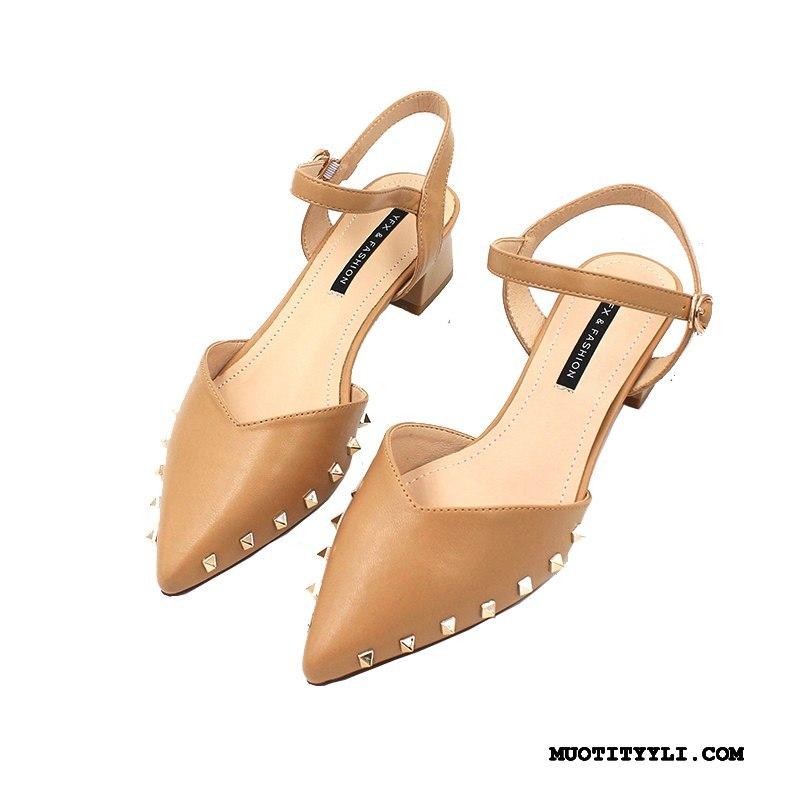 Naisten Sandaalit Halvat Niitti Kengät Naisille Derbies Kevät