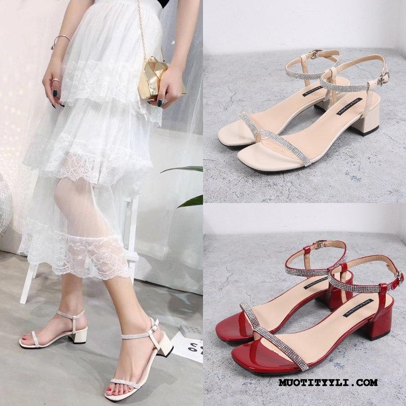 Naisten Sandaalit Netistä Kaikki Ottelut Kengät Rooma Naisille Kesä Punainen