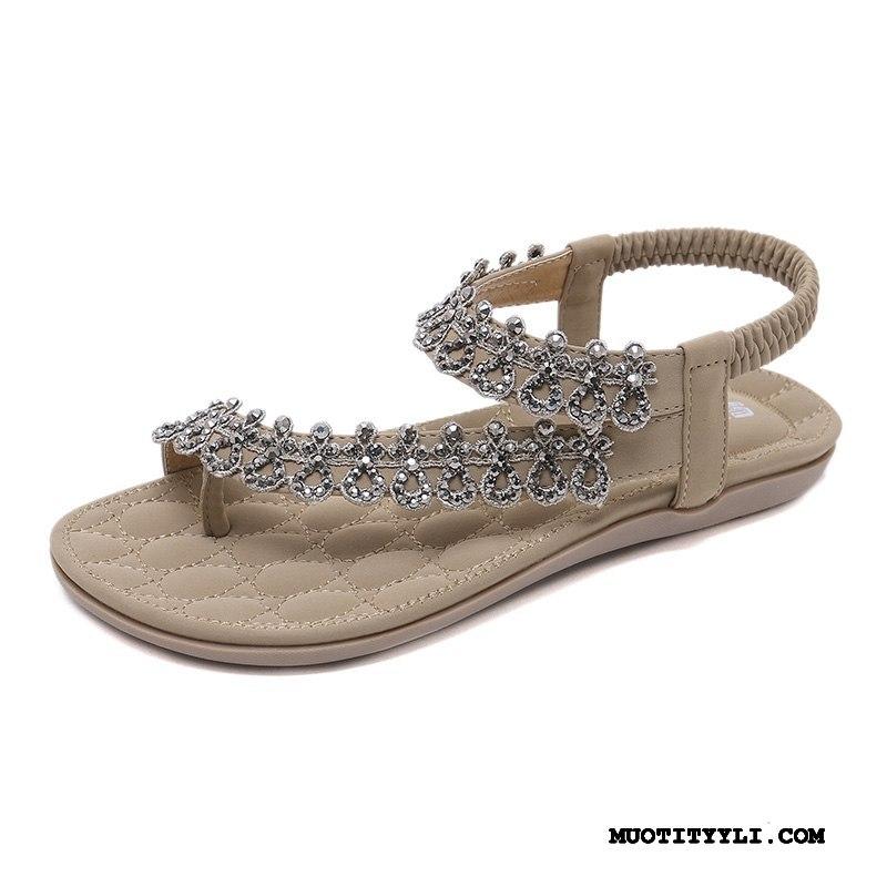 Naisten Sandaalit Osta Rannalle Tasainen Kansakunta Mukavat Strassi