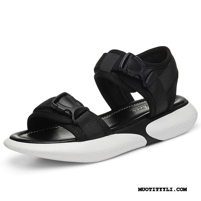 Naisten Sandaalit Verkossa Kaikki Ottelut Rannalle Tasainen Suuntaus Kesä Musta Punainen