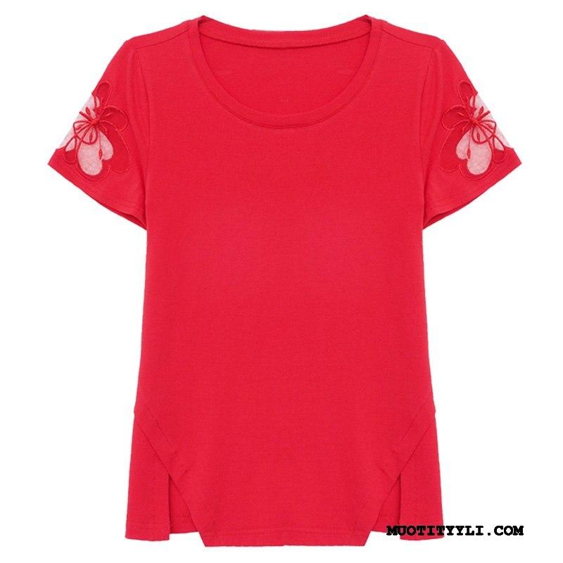 Naisten T-paidat Verkossa Naisille Takki Sideharso Kesä Löysät Punainen