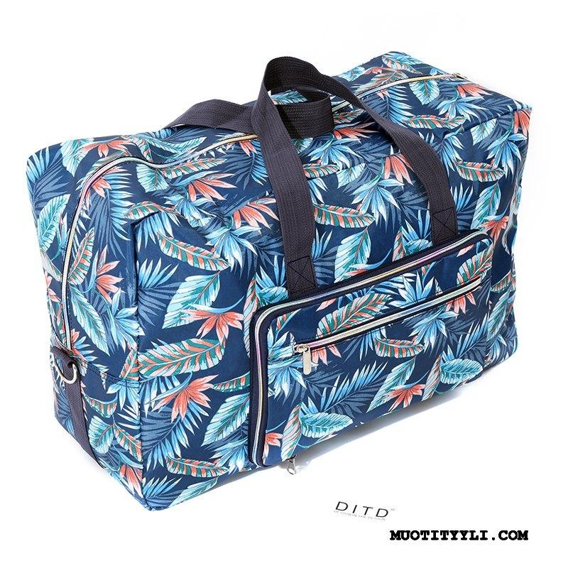 Naisten Vaellusreppu Halvat Suuri Kapasiteetti Kannettava Mutka Matkatavarat Laukku Sininen