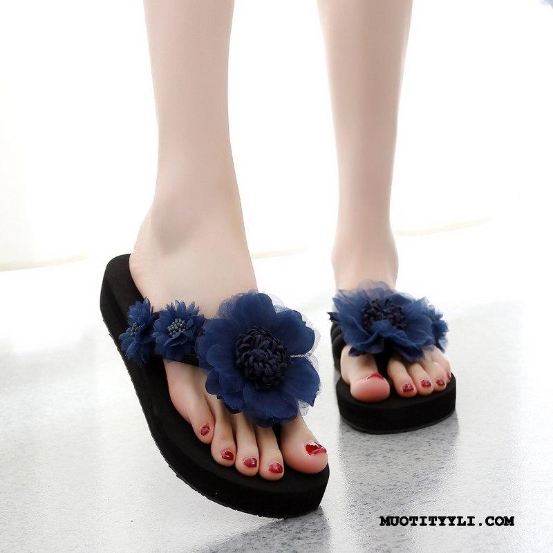 Naisten Varvassandaalit Osta Rannalle Liukumaton Naisille Päällysvaatteet Kengät Sininen Punainen